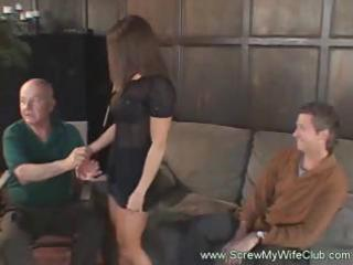 breasty brunette wife receives to have hard sex