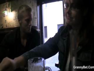 Busty mature gets picked uup in a bar and taken