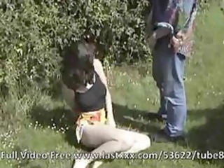 french outdoor anal and snatch sex