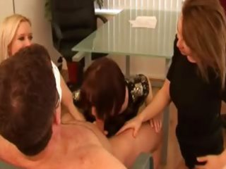three hawt matures sensually teasing masked male