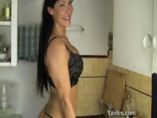 hot mama fucking a kitchen counter