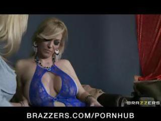 slutty big-tit blond mother i whore fucks her