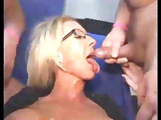 older blond bukkake
