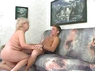 big beautiful woman golden-haired granny bonks