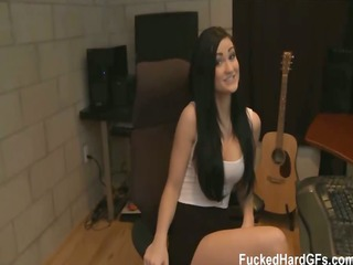breasty brunette hair kendall gets a surprise