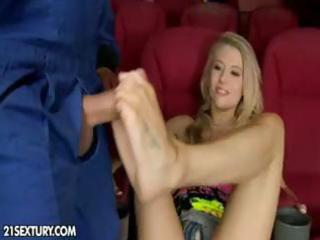 hot golden-haired milf michelle wet gives a