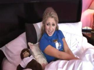 golden-haired mommy sends in a knob to teach her