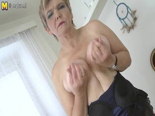 sexy old granny playing with her old moist crack