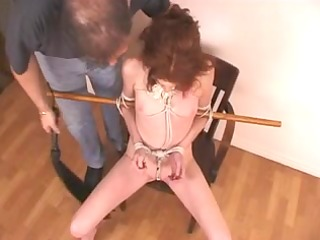 Redhead mother id like to fuck fastened with rope
