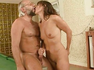 nasty grandma copulates her boyfriend