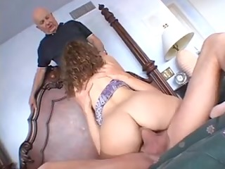 cute wife receives drilled hard by 5 mature males