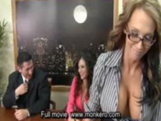 porn tv news with 5 breasty milfs and man ,