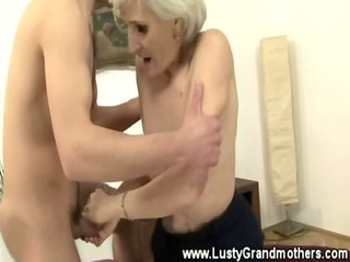 mature granny in nylons acquires screwed in her