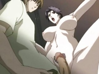 Anime milf sucking a dick and drinking sperm
