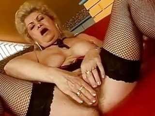 unsightly breasty granny riding huge shlong