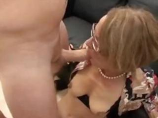 aged dame in glasses does some backdoor act with