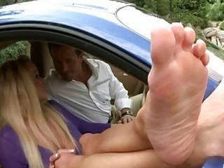 nasty milf enjoys foot fetish