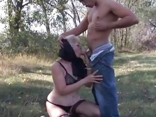 wicked golden-haired granny opens old pu...