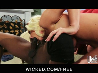 interracial pair fuck eachothers brains out on
