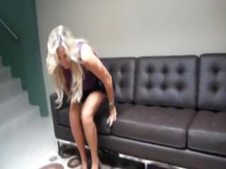 breasty blonde mama receives a twat licking and