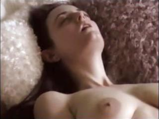 brunette hair dilettante wife masturbates then
