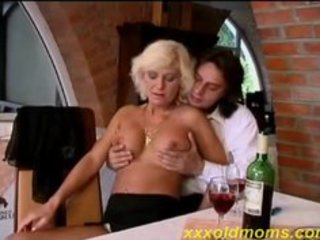 sexy old mom takes it up the booty