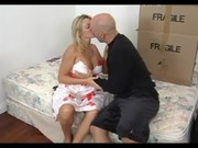 fantastic blond aged seducing her son\s ally