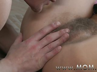 mom unshaved milf makes love to her man