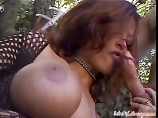 large breasts and a spunk fountain