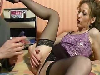 mature french chick is using mouth and wazoo to