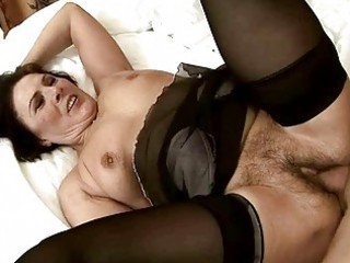 wicked granny gets her shaggy muff fucked
