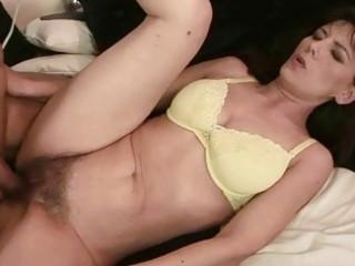 grandma gets her hairy vagina fucked