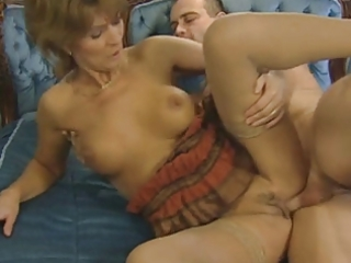 hairy blond older enjoys