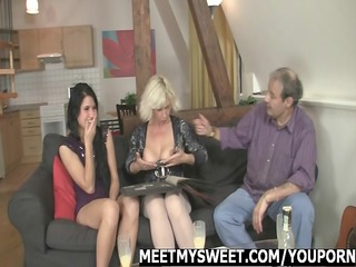 angel receives fucked by her bfs family
