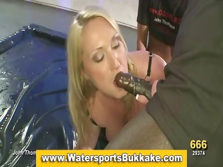 piddle whore enjoys fuck engulf and watersports