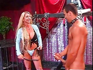 breasty blonde dominatrix-bitch plays coarse with