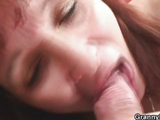 older redhead fucking with youthful