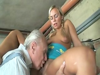 granny couple having a fine one with youthful