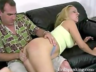 non-professional spanking his golden-haired