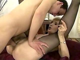 chap fucks lustful granny
