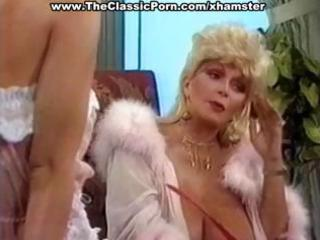 Busty mature classic blonde star gives a hot