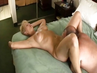 chubby chap fucking golden-haired aged slut