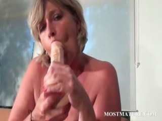 mama sex-toy fucking her hungry bawdy cleft