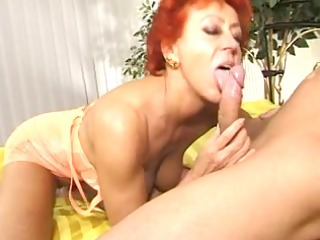 enthusiastic mature angel takes cock in cunt and