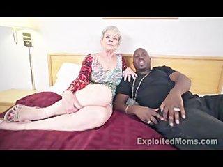 granny in creampie interracial clip