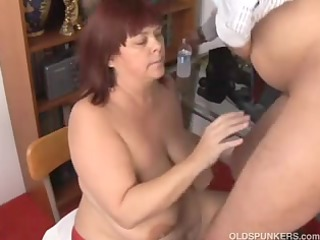 big melons aged large glamorous woman likes to