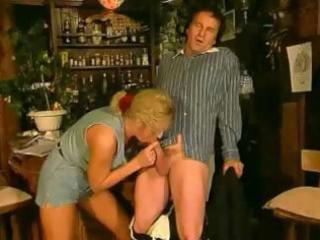 Dining room romp between a blonde wife and her