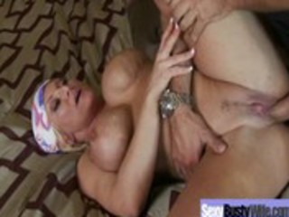 hawt breasty milf acquires drilled on tape