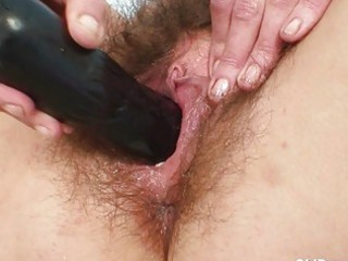 redhead mature lady gets her curly twat examined