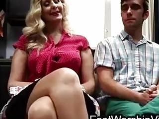 lad fucks and licks feet on mother i